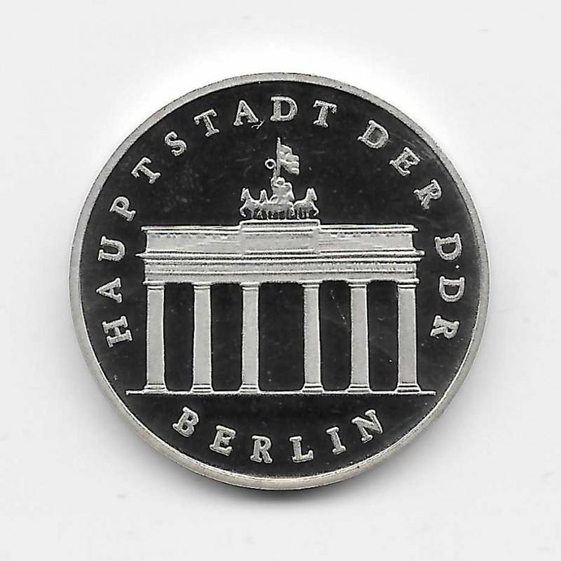 Coin 5 Marks Germany GDR Brandenburg Gate Year 1987 | Numismatics Shop - Alotcoins