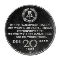 Moneda 20 Marcos Alemania DDR Centenario Karl Marx Año 1983 | Numismática Online - Alotcoins