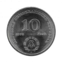 Moneda 10 Marcos Alemania DDR Ejército Popular Nacional Año 1976   Numismática Online - Alotcoins