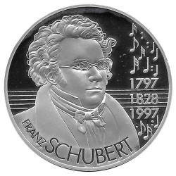 collectible coin commemorates the 200th Birth anniversary Franz Schubert Year 1997 | Numismatics Shop - Alotcoins