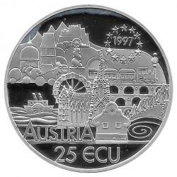 Moneda Colección 25 ECUs Austria 200 Aniversario Franz Schubert Año 1997 | Numismática Online - Alotcoins