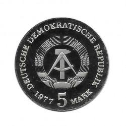 Coin 5 Marks Germany GDR Friedrich Ludwig Jahn Year 1977 | Numismatics Store - Alotcoins