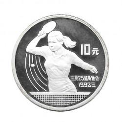 Moneda 10 Yuan China Ping Pong Tenis Mesa Año 1991 | Tienda Numismática - Alotcoins