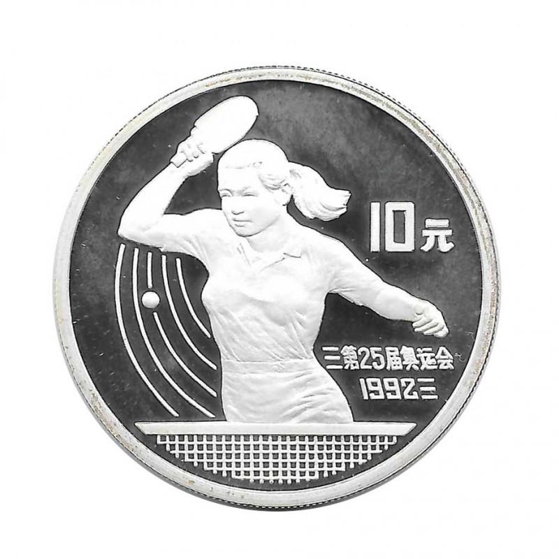 Silbermünze 10 Yuan China Tischtennis Jahr 1991 | Numismatik Store - Alotcoins