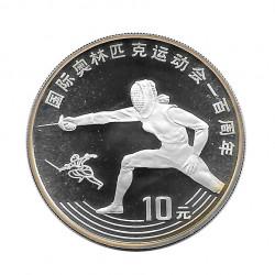 Silbermünze 10 Yuan China Fechten Jahr 1993 | Numismatik Store - Alotcoins