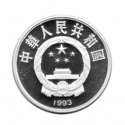 Silver Coin 10 Yuan China Fencing Year 1993 | Numismatics Store - Alotcoins