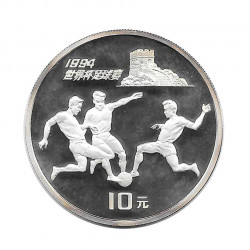 Silver Coin 10 Yuan China World Cup USA 1994 Year 1993 | Numismatics Shop - Alotcoins