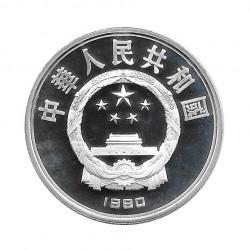 Silver Coin 10 Yuan China High Jump Year 1990 | Numismatic Store - Alotcoins