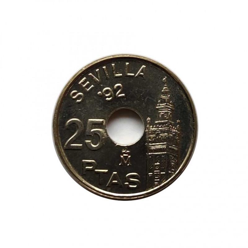 Moneda España 25 Pesetas Año 1992 Sevilla Catedral La Giralda Sin Circular | Monedas de colección - Alotcoins