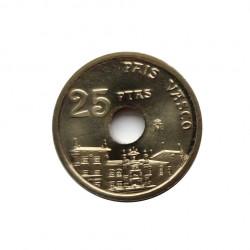 Moneda España 25 Pesetas Año 1993 País Vasco Euskadi Sin Circular | Monedas de colección - Alotcoins