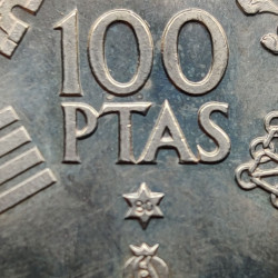 Coin Spain 100 Pesetas Year 1980 Soccer World Cup 1982 Star 80   Numismatic Store - Alotcoins