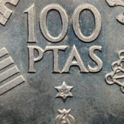 Münze 100 Peseten Spain Weltmeisterschaft 1982 Jahr 1980 stern 80 2 | Numismatik Shop