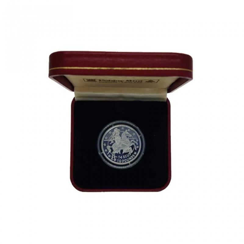 Gedenkmünze Gibraltar 14 ECU / 10 Pfund Ritter Jahr 1993 Polierte Platte PP | Numismatik Store - Alotcoins