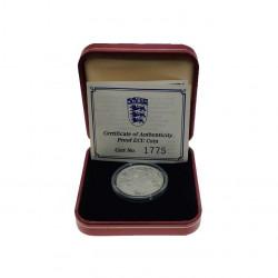 Moneda 14 ECUs / 10 Libras Gibraltar Caballero Año 1993 Proof + Certificado de autenticidad | Numismática Online - Alotcoins