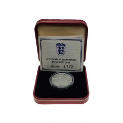 Silver Coin 14 ECU / 10 Pounds Gibraltar Knight Year 1993 Proof + Certificate of authenticity 1 | Numismatics Shop - Alotcoins