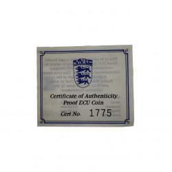 Gedenkmünze Gibraltar 14 ECU / 10 Pfund Ritter Jahr 1993 Polierte Platte PP + Echtheitszertifikat | Numismatik Shop - Alotcoins