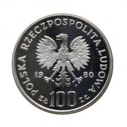Silbermünze 100 Złote Polen Auerhahn Jahr 1980 Polierte Platte PP | Numismatik Shop - Alotcoins
