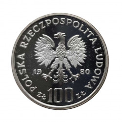 Silver Coin 100 Zloty Poland Capercaillie Year 1980 Proof | Numismatics Store - Alotcoins