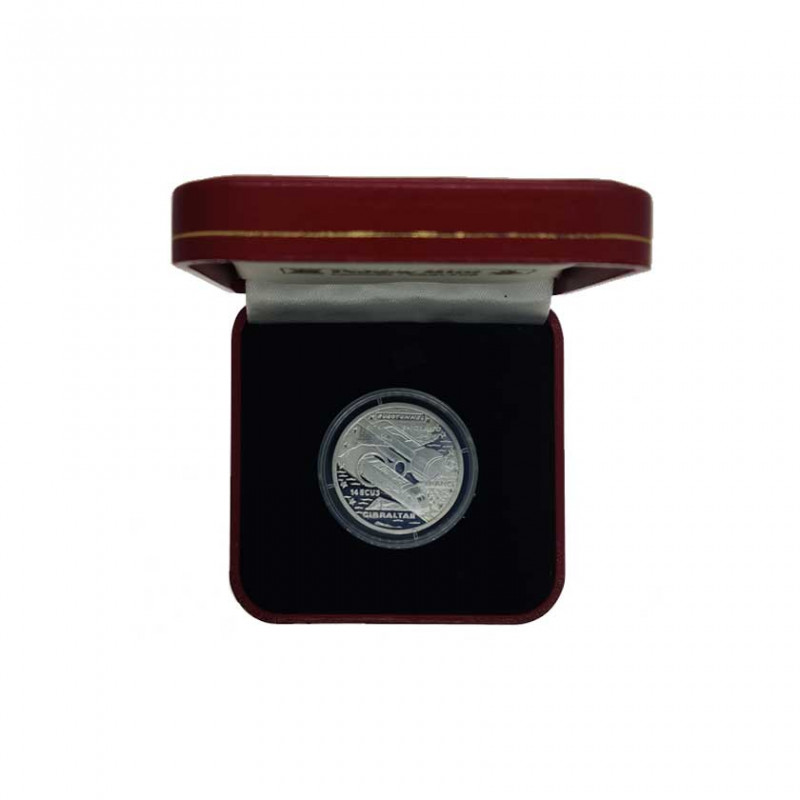 Silver Coin 14 ECU Gibraltar Channel Tunnel Year 1993 Proof | Numismatics Shop - Alotcoins