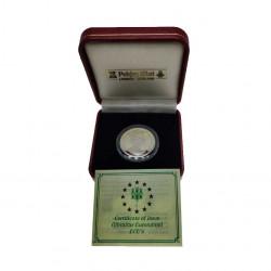 Gedenkmünze Gibraltar 14 ECU Kanaltunnel Jahr 1993 Polierte Platte PP + Echtheitszertifikat   Numismatik Store - Alotcoins