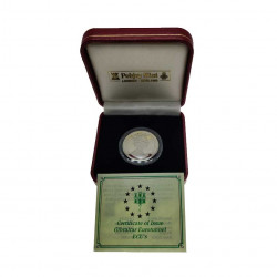 Silver Coin 14 ECU Gibraltar Channel Tunnel Year 1993 Proof + Certificate of authenticity | Numismatics Shop - Alotcoins