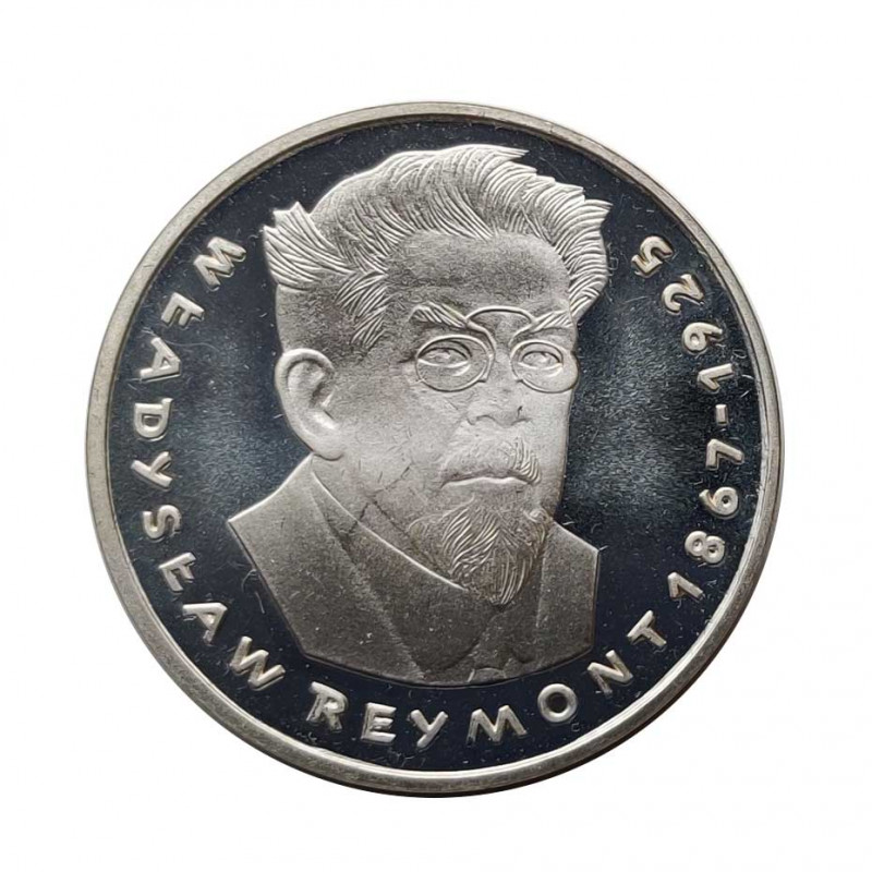 Silver Coin 100 Zloty Poland Władyslaw Reymont Year 1977 | Numismatics Shop - Alotcoins