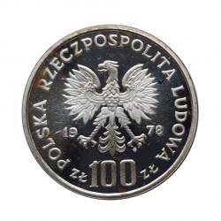 Silbermünze 100 Złote Polen Janusz Korczak Jahr 1978 | Numismatik Shop - Alotcoins