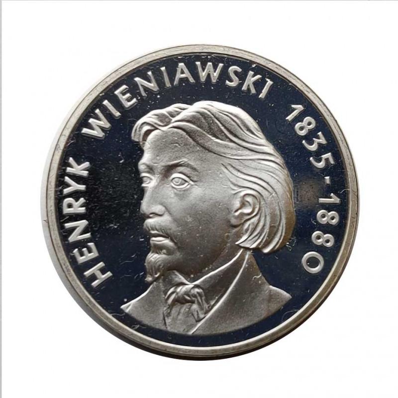 Moneda de plata 100 Zlotys Polonia Henryk Wieniawski Año 1979 | Monedas de colección - Alotcoins