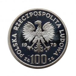 Moneda de plata 100 Zlotys Polonia Henryk Wieniawski Año 1979 | Tienda Numismática - Alotcoins