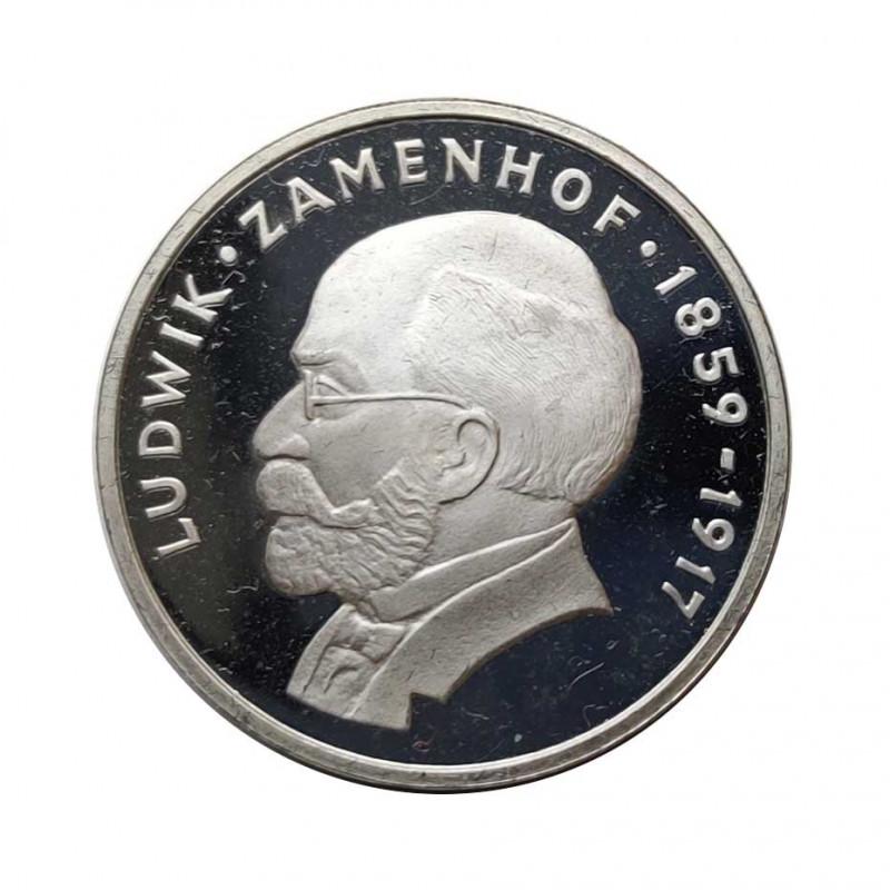 Moneda de plata 100 Zlotys Polonia Ludwik Zamenhof Año 1979 Proof | Monedas de colección - Alotcoins