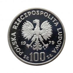 Gedenkmünze 100 Złote Polen Ludwik Zamenhof Jahr 1979 Polierte Platte PP | Numismatik Shop - Alotcoins