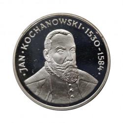 Moneda 100 Zlotys Polonia Kochanowski Año 1980 Plata Proof | Monedas de colección - Alotcoins