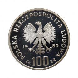 Silbermünze 100 Złote Polen Kochanowski Jahr 1980 Polierte Platte PP | Numismatik Shop - Alotcoins