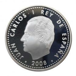 Silver Coin 10 Euros Spain Alfonso X El Sabio Year 2008 | Numismatics Store - Alotcoins