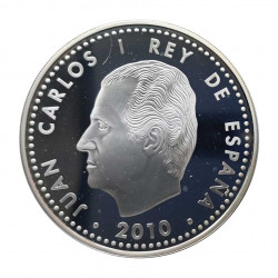 Silver Coin 10 Euros Spain Gaudi's Sagrada Familia Year 2010 | Numismatics Store - Alotcoins