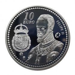 Moneda 10 Euros España Rey Felipe II Año 2009 | Monedas de colección - Alotcoins