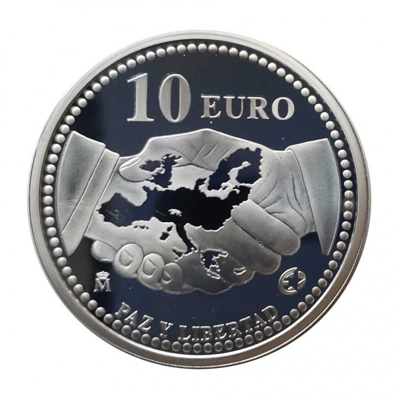Silver Coin 10 Euros Spain Peace and Liberty Year 2005 | Numismatics Shop - Alotcoins