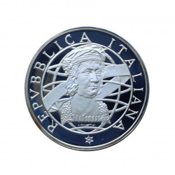 Silver Coin 500 Lire Italy Discovery America Colombo Year 1989 | Numismatics Store - Alotcoins