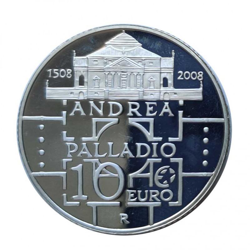 Silver Coin 10 Euros Italy Andrea Palladio Year 2008 | Numismatics Shop - Alotcoins