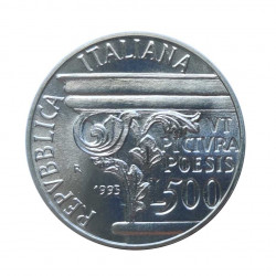 Moneda 500 Liras Italia Horacio Año 1993 | Monedas de colección - Alotcoins
