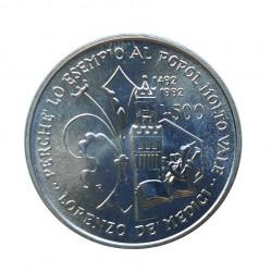 Silver Coin 500 Lire Italy Lorenzo de' Medici Year 1992 | Numismatics Store - Alotcoins