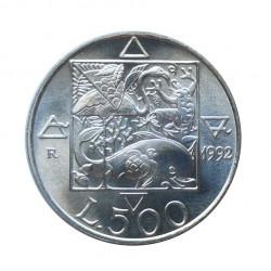 Moneda 500 Liras Italia Flora y Fauna Año 1992 Sin circular SC | Numismática Española - Alotcoins