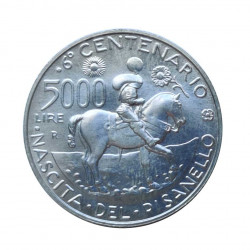 Moneda 5.000 Liras Italia Pisanello Año 1995 Sin circular SC | Monedas de colección - Alotcoins