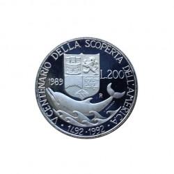 Gedenkmünze 200 Lire Italien Entdeckung Amerikas Colombo Jahr 1989 | Numismatik Store - Alotcoins