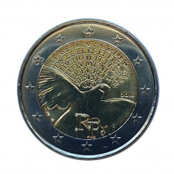 Commemorative Coin 2 Euros France Peace Year 2015 | Numismatics Shop - Alotcoins