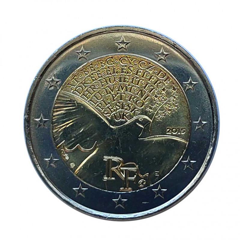 Gedenkmünze 2 Euro Frankreich Frieden Jahr 2015 | Numismatik Store - Alotcoins