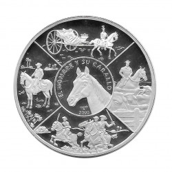 Silver Coin 10 Pesos Cuba Man and his Horse Year 2000 Proof | Numismatics Shop - Alotcoins