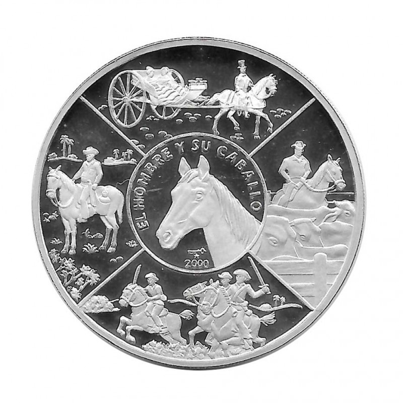 Silver Coin 10 Pesos Cuba Man and his Horse Year 2000 Proof   Numismatics Shop - Alotcoins