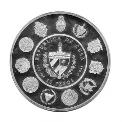 Moneda de plata Cuba 10 Pesos Cabra Hombre y su caballo Año 2000 Proof   Numismática Española - Alotcoins