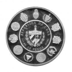 Silbermünze 10 Peso Kuba Der Mensch und sein Pferd Jahr 2000 Polierte Platte PP | Numismatik Shop - Alotcoins